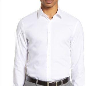 Men's Dress Shirt White Nordstrom 36/37 extra trim